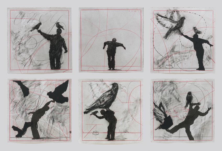 Drawings from Preparing the Flute Bird Catcher 2006