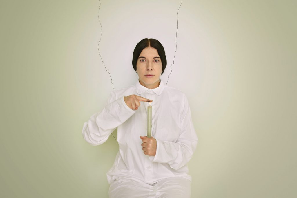 Artist Portrait with a Candle is part of Abramović's Places of Power (2013) series, which examined the connections between art and spirituality photo: © Marco Anelli; Courtesy of the Marina Abramović Archives © Marina Abramović